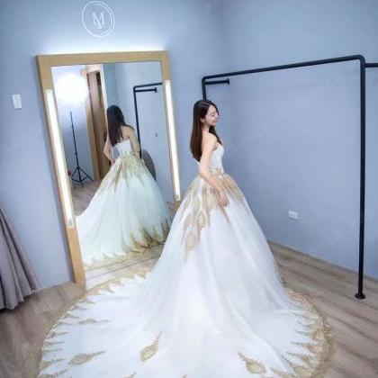 2019 Strapless Wedding Dresses Swee..