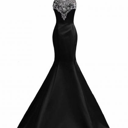 Fashion Black Mermaid Floor-Length ..