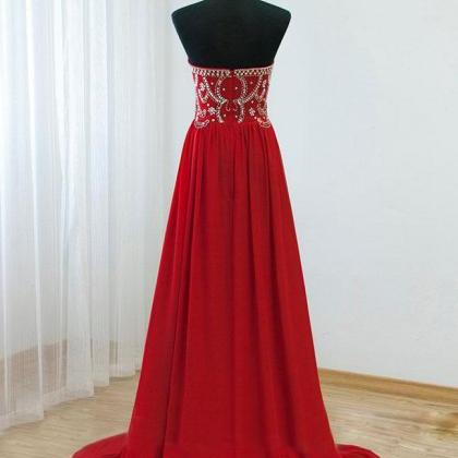 Long Elegant Red Prom Dresses Sweet..