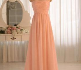 Coral Chiffon Ruched..