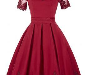 Burgundy Short Bride..