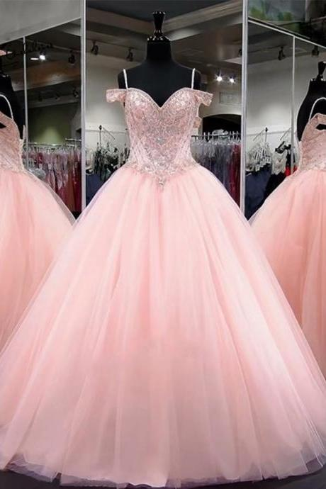 2019 New Quinceanera Dresses Beaded Sweet 16 Dress Debutante Gowns Tulle Formal Prom Patry Gown