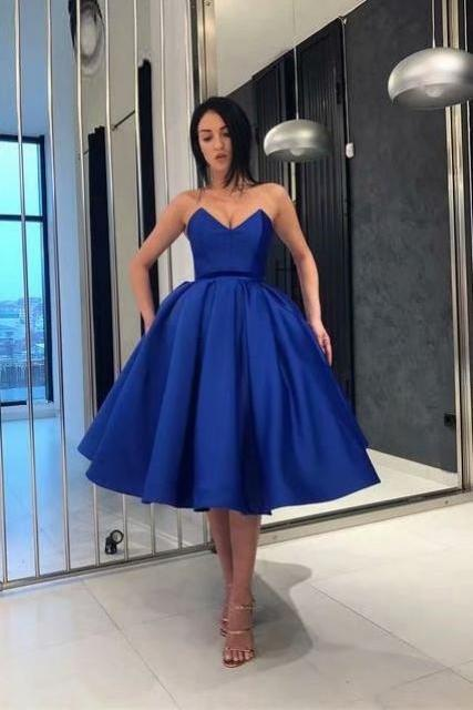 Graduation Dress Short Prom Dresses Royal Blue Homecoming Dress Mini Prom Gowns Women Party Dress