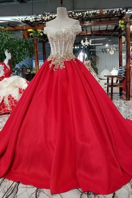 Free Shipping Evening dresses Sequined V-neck Lace-Up back Red Party Gowns Royal Floor-length Ball Gown Prom dresses