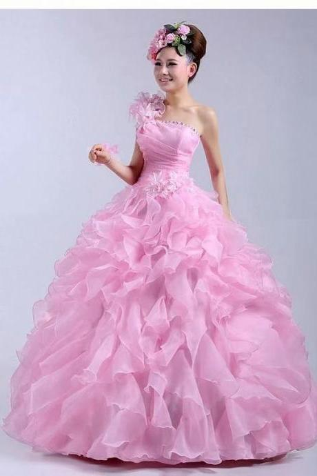Free Shipping Pink Prom Dresses Long 2019 Women's Sexy Ball Gown Organza Cheap Evening Party Gowns