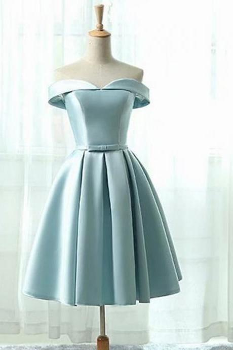 Fashion Short Prom Dresses 2018 Strapless Vintage Light Blue Dress For Homecoming Party Mini Gowns