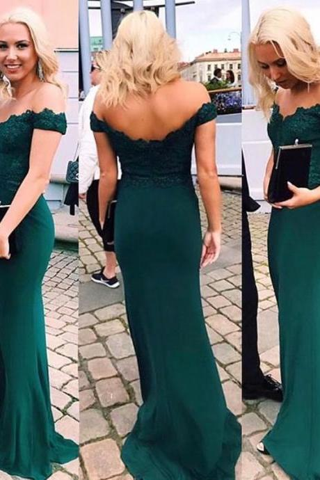 New Long Green Bridesmaid Dresses,Mermaid Bridesmaid Dresses With Lace Bodice, Wedding Party Dresses, Wedding Guest Dress, Prom Dresses